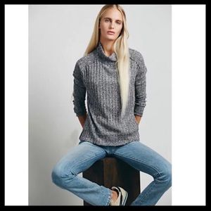 Free People Rested And Relaxed Mock Neck Sweater